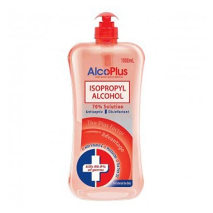 Picture of AlcoPlus Isopropyl Alcohol 70% Red Pump 1L, ALC11