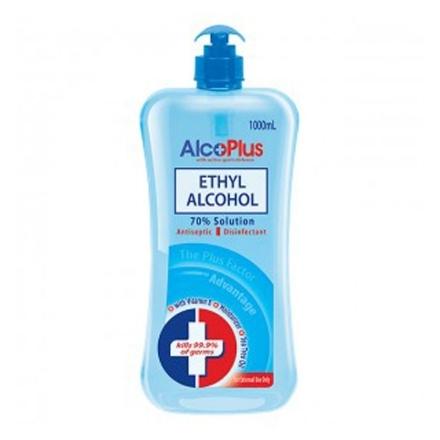 Picture of AlcoPlus Ethy Alcohol 70% Blue Pump 1L, ALC09