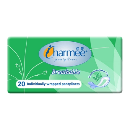 Picture of Charmee Panty Liner Breathable Green Tea 20's, CHA43