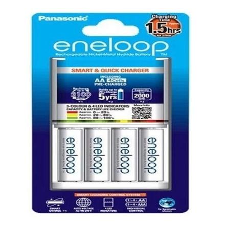 Picture of Panasonic K-KJ55MCC40T Eneloop Batteries & Charger Kit, K-KJ55MCC40T