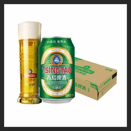 Picture of Tsingtao Beer (Can) 330ml, 1 can, 1*24 cans
