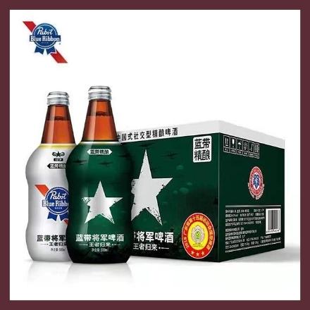 图片 蓝带将军啤酒 (瓶) 500ml, 1瓶, 1*12瓶