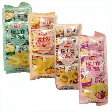 Picture of Daliyuan Swiss Roll,flavor(Chocolate, strawberry, orange juice, banana) 200g,1 pack, 1*16 pack