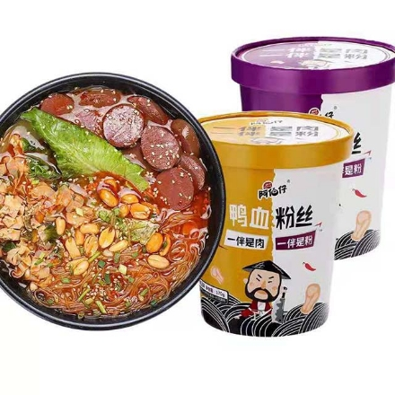 Picture of Abozai duck blood vermicelli (Hot and sour soup, old duck soup),1 barrel, 1*6 barrel