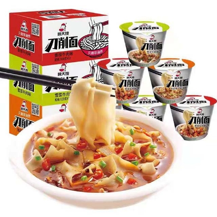 Picture of Gu Dasao knife-cut noodles (Spicy oil, beef with pickled vegetables, spicy beef),1 box, 1*12 box