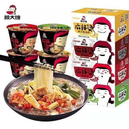 Picture of Gu Dasao Mala Tang (Hot and Sour Flavor 127g, Spicy Flavor 119g, Hot and Spicy Flavor 119g, Original Bone Broth Flavor 116g) 127g,1 box, 1*12 box
