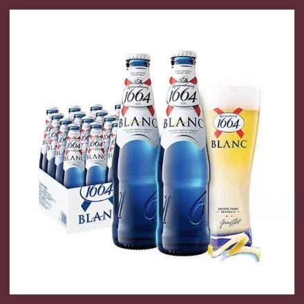 图片 1664  啤酒 218ml, 1瓶, 1*24瓶