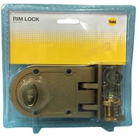 圖片 Yale V198GL,V198AB, Single Rim Lock Deadbolt, YV198AB