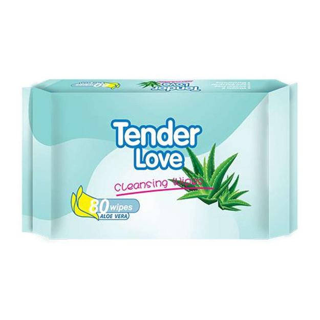 圖片 Tender Love Aloe Vera Cleansing Wipes, TEN27
