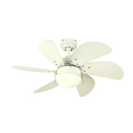 """圖片 Westinghouse Turbo Swirl 30"""" White Ceiling Fan, WH6T30WHD"""