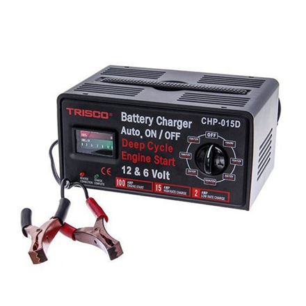圖片 Trisco Battery Charger 15 Amps 6/12 Volts, CHP-015D