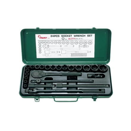 "图片 Hans 1/2"" Drive 25Pcs. Impact Socket Wrench Set, #4625"