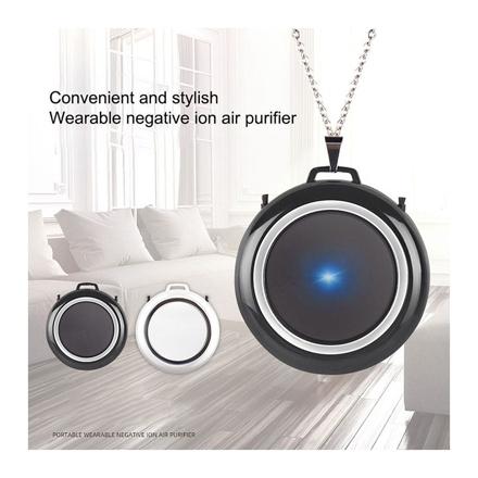 圖片 Air Purifier Necklace Wearable Portable USB Personal Ionizer Hepa Portable Air Freshener, UE04AIRF1