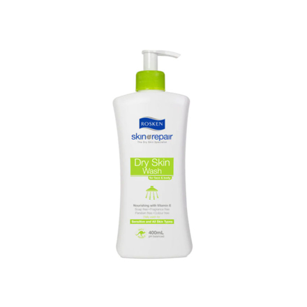 Picture of Rosken Dry Skin Wash For Face & Body Pump 400 ml, 661615