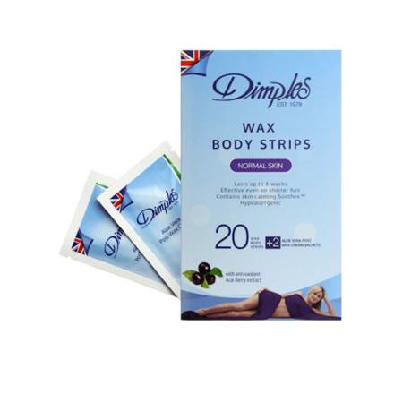 Picture of Dimples Wax Body Strips Normal Skin 20 Pcs, W901