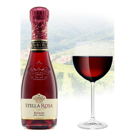 Picture of Stella Rosa Rosso (Semi-Sweet) Italian Red Wine 187ml Miniature, STELLAROSA