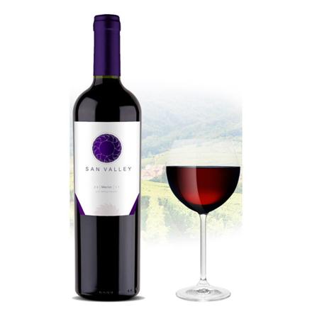 图片 San Valley Merlot Chilean Red Wine 750 ml, SANVALLEYMERLOT