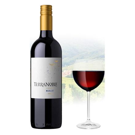 图片 TerraNoble Estate Merlot Chilean Red Wine 750 ml, TERRANBOBLEMERLOT