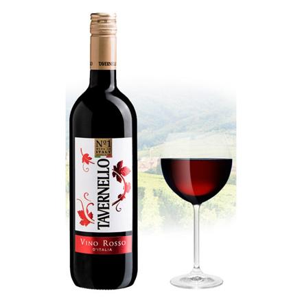 图片 Tavernello Vino Rosso d'Italia Italian Red Wine 750 ml, TAVERNELLOROSSO