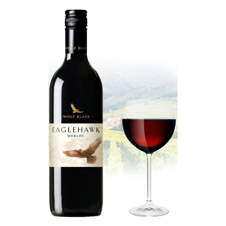 图片 Wolf Blass Eaglehawk Merlot Australian Red Wine 750 ml, WOLFBASSMERLO