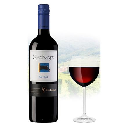 图片 Gato Negro Merlot Chilean Red Wine 750 ml, GATONEGROMERLOT