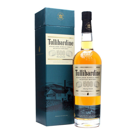 图片 Tullibardine 500 Sherry Finish Single Malt Scotch Whisky 700 ml, TULLIBARDINE500