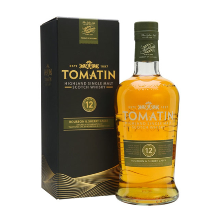 图片 Tomatin 12 Year Old Single Malt Scotch Whisky 700 ml, TOMATIN12