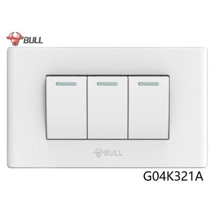 圖片 Bull 3 Gang 1 Way Switch Set (White), G04K321A