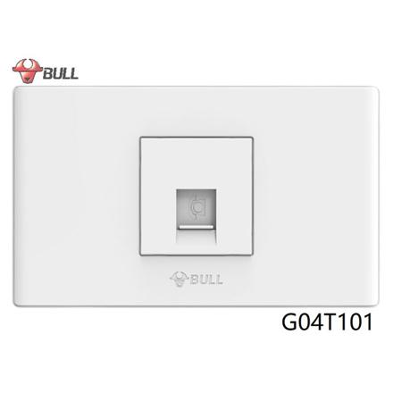 圖片 Bull 1 Gang Telephone Outlet Set (White), G04T101