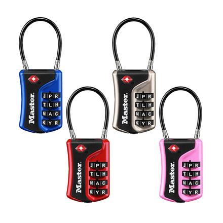 圖片 Master Lock Luggage Lock Combination 36mm 38mm Shackle (Blue, Pink, Red, Nickel), MSP4697D