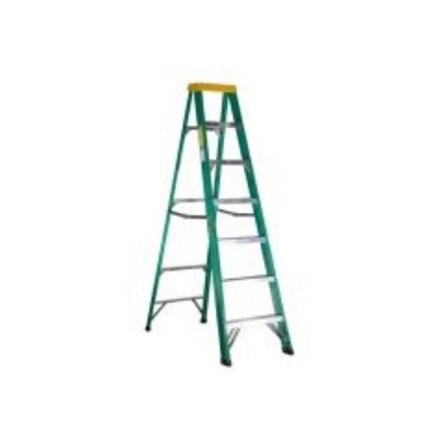 圖片 Jinmao 6 Step Fiberglass 7' Step Ladder 225 lbs  Green, JMFM22106II