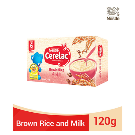 圖片 Nestle Cerelac Brown Rice and Milk 120g, CER08