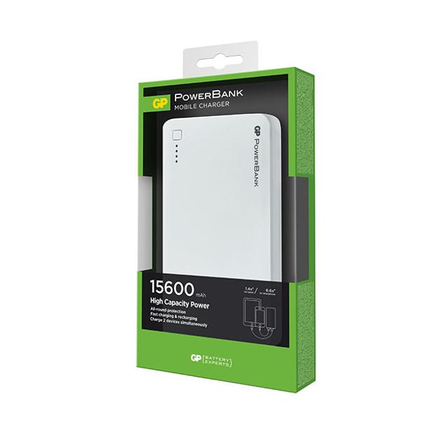 圖片 GP Portable Power Bank 15600 MAH White, GPGPACC3C15001