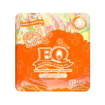 圖片 EQ Diaper Colors Xtra Large 12's, EQ024Y