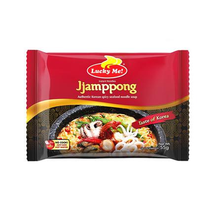 圖片 Lucky Me Instant Noodle Soup Jjamppong Spicy Seafood Pouch 55g, LUC130
