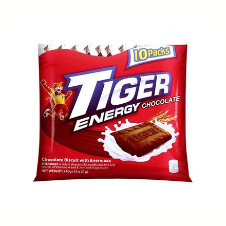 圖片 Tiger Crackers Energy Biscuit Chocolate 42g 10 packs, TIG11