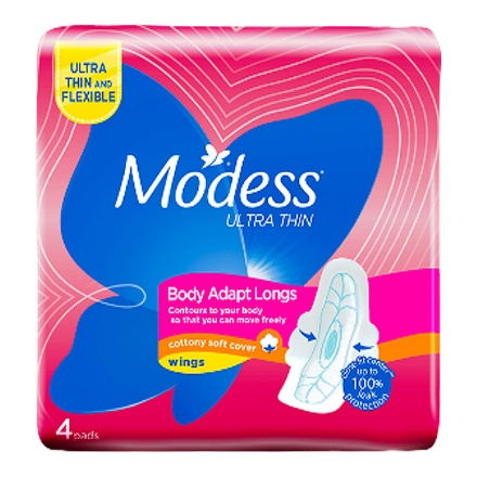 Picture of Modess Body  Adapt Longs Ultra  Thin 4's, MOD31