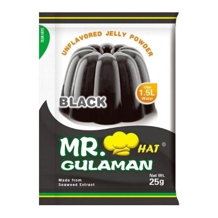 Picture of Mr. Hat Gulaman Powder Black 10's (25g), MRH15