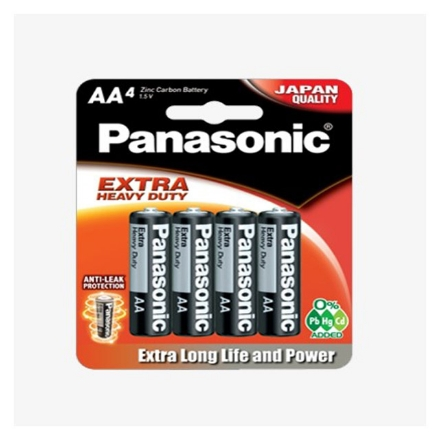 Picture of Panasonic R6NPT Extra Heavy Duty Manganese Batteries, R6NPT