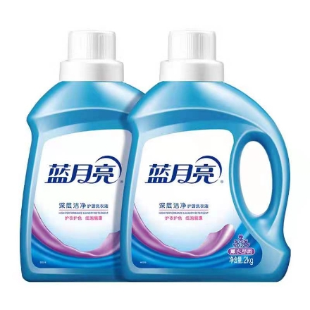Picture of Blue Moon Laundry Liquid Lavender Scent (deep cleansing, brightening and brightening) 2000g,1 barrel, 1*6 barrel|蓝月亮洗衣液薰衣草香(深层洁净,亮白增艳)2000g,1桶,1*6桶